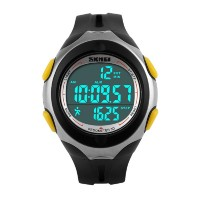 Farsler Men's Multifunctional 50M Waterproof EL Light Electronic Watch Outdoor sports 3D Pedometer Men and Women studentse Swimming Diving Digital Wirst Watch