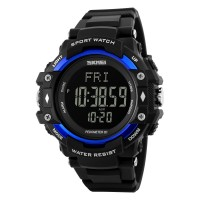 Farsler Multifunction Men's 50M Waterproof Big dial Digital Watch Pedometer Heart Rate Calorie Track EL Light Outdoor Sports Men Tide Electronic Watch